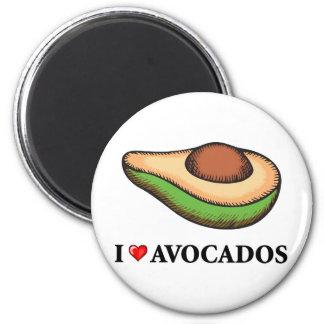 I Love Avocados 6 Cm Round Magnet