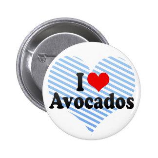I Love Avocados Buttons