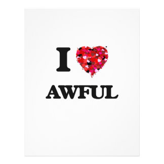 I Love Awful 21.5 Cm X 28 Cm Flyer