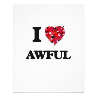 I Love Awful 11.5 Cm X 14 Cm Flyer