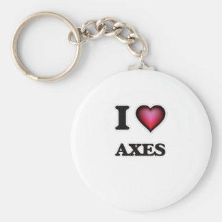 I Love Axes Key Ring