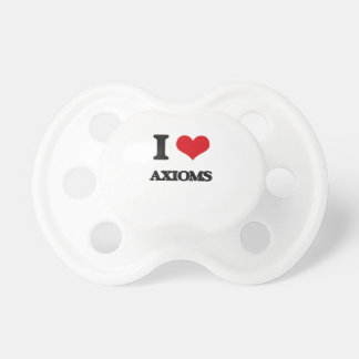 I Love Axioms BooginHead Pacifier
