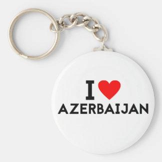 i love Azerbaijan country nation heart symbol text Key Ring