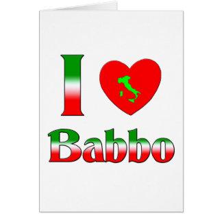 I Love Babbo (Italian Father) Card