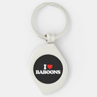 I LOVE BABOONS KEY CHAINS