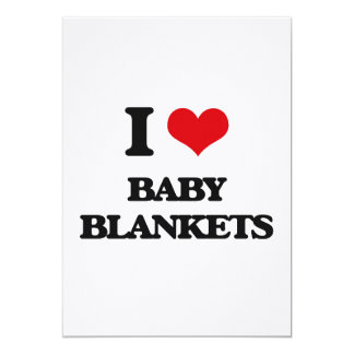 I Love Baby Blankets Cards