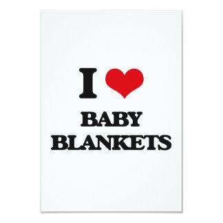 I Love Baby Blankets Custom Invitations