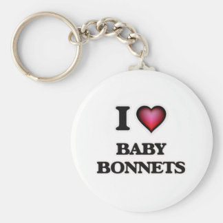I Love Baby Bonnets Key Ring