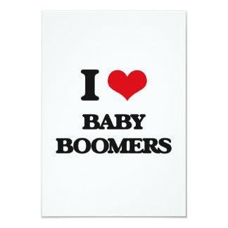 "I Love Baby Boomers 3.5"" X 5"" Invitation Card"