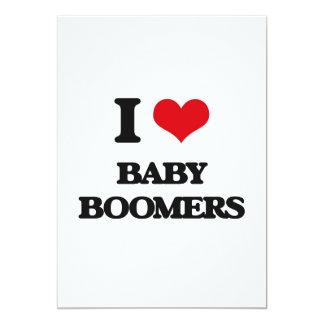 "I Love Baby Boomers 5"" X 7"" Invitation Card"