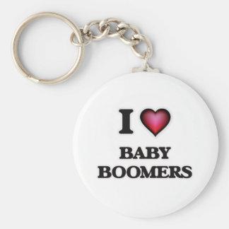 I Love Baby Boomers Key Ring