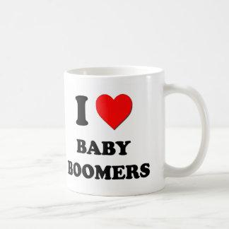 I Love Baby Boomers Coffee Mugs