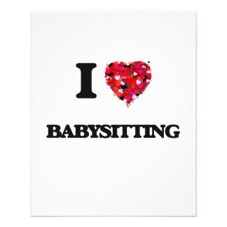 I Love Babysitting 11.5 Cm X 14 Cm Flyer