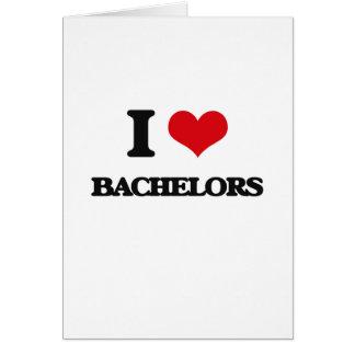 I Love Bachelors Greeting Card