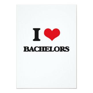 "I Love Bachelors 5"" X 7"" Invitation Card"