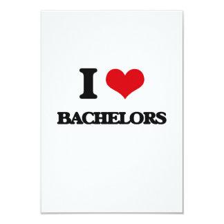 "I Love Bachelors 3.5"" X 5"" Invitation Card"