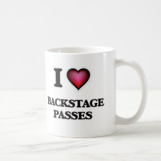 I Love Backstage Passes Coffee Mug