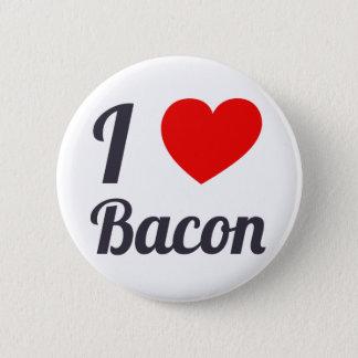 I Love Bacon 6 Cm Round Badge