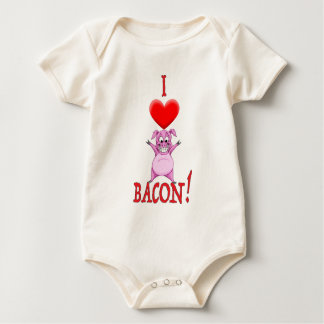 I LOVE BACON BABY BODYSUIT