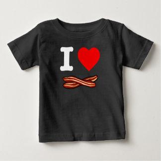 I Love Bacon Crispy Fried Pork Bacon Life Heart Baby T-Shirt