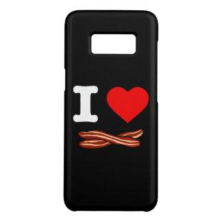I Love Bacon Crispy Fried Pork Bacon Life Heart Case-Mate Samsung Galaxy S8 Case