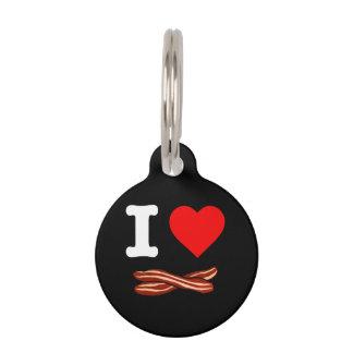 I Love Bacon Crispy Fried Pork Bacon Life Heart Pet Tag
