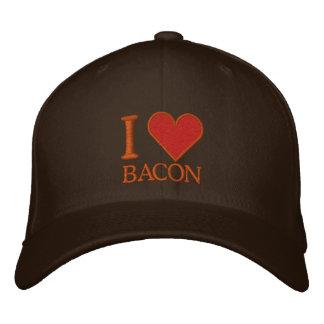 I LOVE BACON EMBROIDERED BASEBALL CAPS