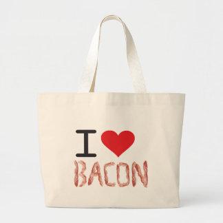 I Love Bacon Jumbo Tote Bag