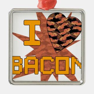 I love Bacon Metal Ornament