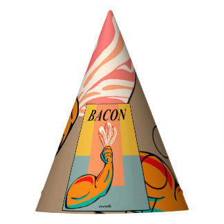 I love bacon party hat