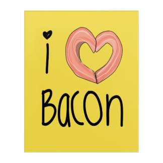 I love bacon poster acrylic print