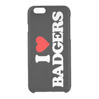 I LOVE BADGERS CLEAR iPhone 6/6S CASE