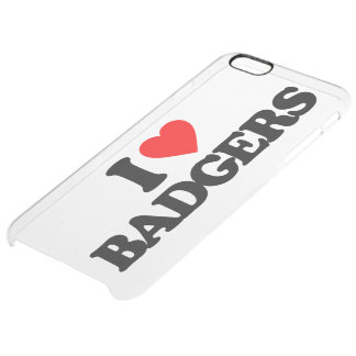 I LOVE BADGERS CLEAR iPhone 6 PLUS CASE