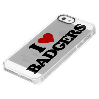 I LOVE BADGERS CLEAR iPhone SE/5/5s CASE