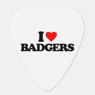 I LOVE BADGERS GUITAR PICK
