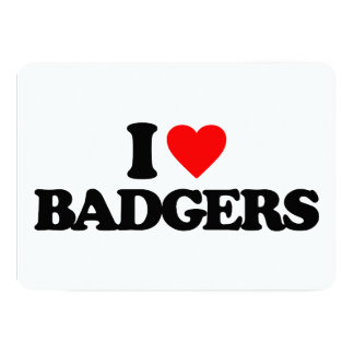 I LOVE BADGERS PERSONALIZED ANNOUNCEMENT