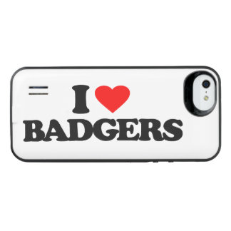 I LOVE BADGERS iPhone SE/5/5s BATTERY CASE