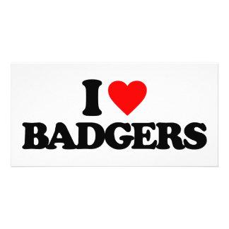 I LOVE BADGERS PHOTO CARD TEMPLATE