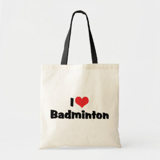 I Love Badminton Tote Bag