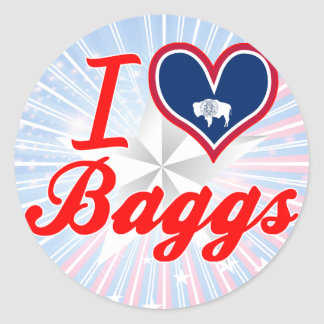 I Love Baggs, Wyoming Round Stickers