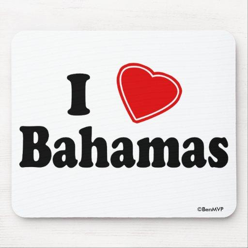 I Love Bahamas Mouse Pad