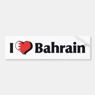 I Love Bahrain Flag Bumper Sticker