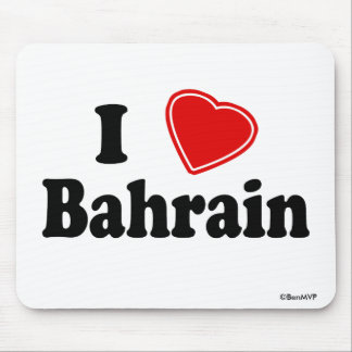 I Love Bahrain Mouse Pad