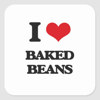 I Love Baked Beans Stickers