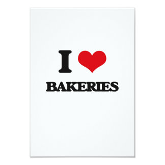 I Love Bakeries Personalized Invite