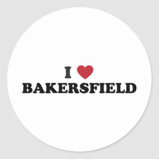 I Love Bakersfield California Classic Round Sticker