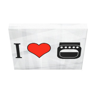 I Love Baking Gallery Wrapped Canvas