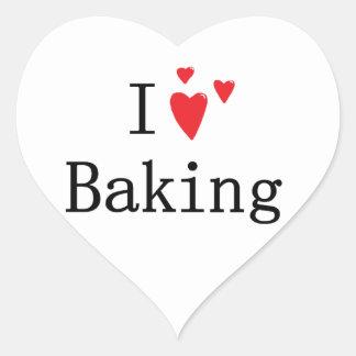I Love Baking Heart Sticker
