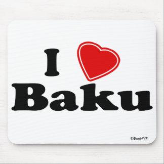 I Love Baku Mouse Pad