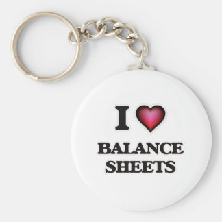 I Love Balance Sheets Basic Round Button Key Ring